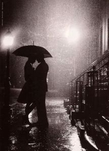 couple under umbrella