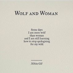 wolf and woman